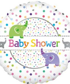 "18"" Baby Shower Elephants Foil Balloon"