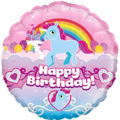 "18"" Unicorn Happy Birthday Foil"