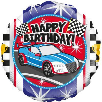"""18"""" Sports Car Birthday Foil"""