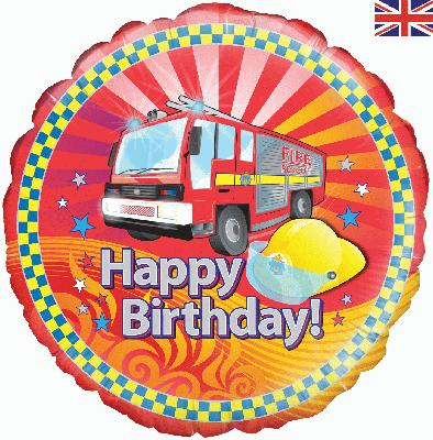 "18"" Fire Engine Birthday Foil"