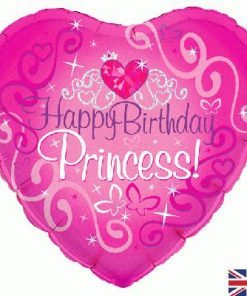 "18"" Happy Birthday Princess Holographic Foil"