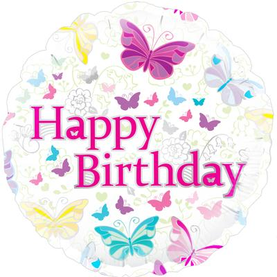 "18"" Butterfly Birthday Foil"