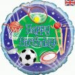 "18"" Happy Birthday Sports Foil"