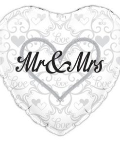 "18"" Mr and Mrs Foil"
