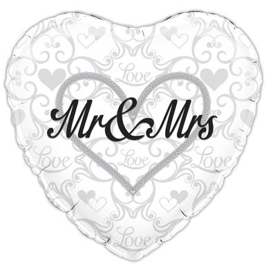 """18"""" Mr and Mrs Foil"""