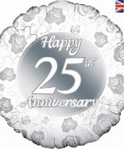 "18"" Happy 25th Anniversary Foil Balloon"