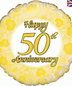 "18"" Happy 50th Anniversary Foil Balloon"