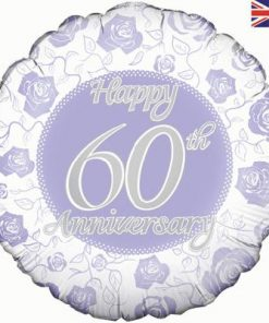 "18"" Happy 60th Anniversary Foil Balloon"