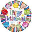 """18"""" Retirement Speech Bubbles Foil"""