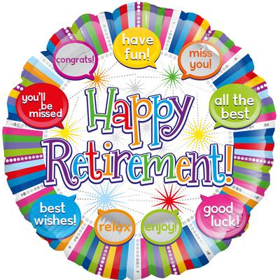 "18"" Retirement Speech Bubbles Foil"