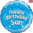 "18"" Happy Birthday Son Foil Balloon"