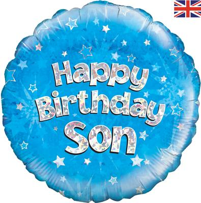 "18"" Happy Birthday Son Foil Balloon"
