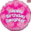 "18"" Happy Birthday Daughter Foil Balloon"