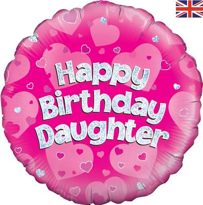 "18"" Happy Birthday Daughter Foil Balloon"