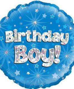 "18"" Birthday Boy Holographic Foil"