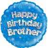 "18"" Happy Birthday Brother Foil Balloon"