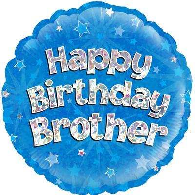 "18"" Happy Birthday Brother Foil Balloon"