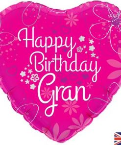 "18"" Happy Birthday Gran Foil Balloon"