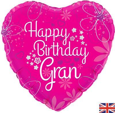 "18"" Happy Birthday Gran Foil Balloon"