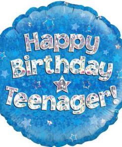 "18"" Happy Birthday Teenager Blue Foil Balloon"