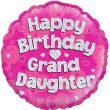 """18"""" Happy Birthday Grand Daughter Holographic Foil Balloon"""