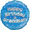 "18"" Happy Birthday Grandson Holographic foil balloon"