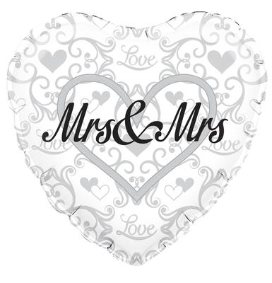"18"" Mrs and Mrs Foil Balloon"