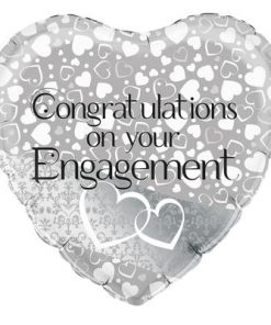 "18"" Entwined Hearts Engagement Heart Foil"