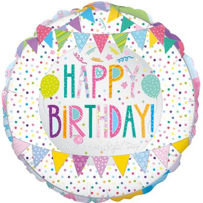 "18"" Patchwork Birthday Foil"
