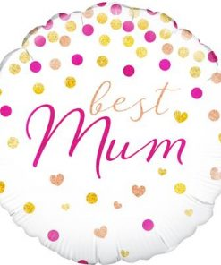 "18"" Best Mum Holographic Foil Balloon"