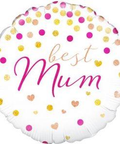 "18"" Best Mum Holographic Foil Balloon"