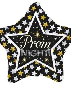 "18"" Prom Night Stars Holographic Foil Balloon"