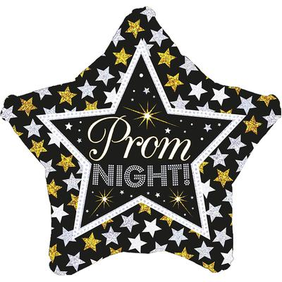 """18"""" Prom Night Stars Holographic Foil Balloon"""