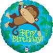 "18"" Monkey Buddy Birthday Holographic Foil"