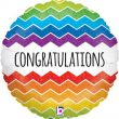 "18"" Chevron Congratulations Holographic Foil"