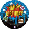 "18"" Superhero Birthday Holographic Foil"