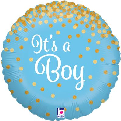 "18"" Glittering It's a Boy Holographic Foil"