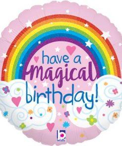"18"" Glitter Magical Rainbow Birthday Holographic Foil"