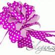 Eleganza 50mm Light Pink Polka Dot Poly Pull Bow