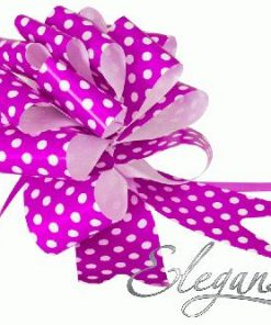 Eleganza 50mm Light Pink Polka Dot Poly Pull Bow