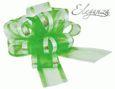 50mm Green Organza Pull Bow