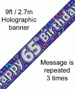 65th Birthday Streamers Banner
