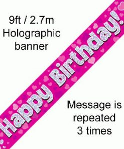 Happy Birthday Pink Banner