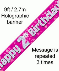 2nd Birthday Pink Banner