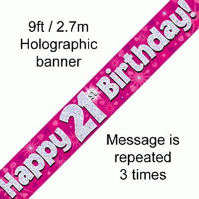 21st Birthday Pink Banner