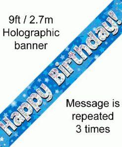 Happy Birthday Blue Banner