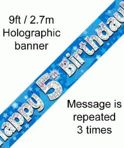 5th Birthday Blue Banner