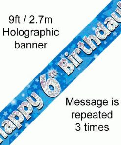 6th Birthday Blue Banner