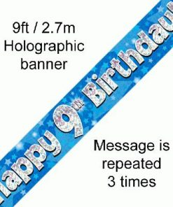 9th Birthday Blue Banner