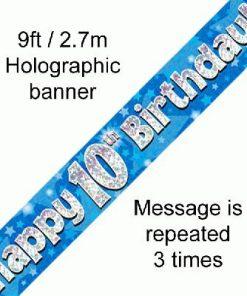 10th Birthday Blue Banner
